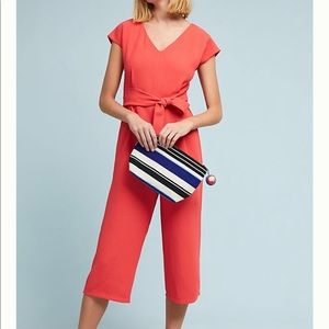 Anthropologie Other - Anthropologie Jumpsuit Coral Red